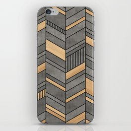 Abstract Chevron Pattern - Concrete and Wood iPhone Skin