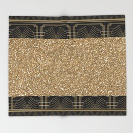 Flapper glamour Throw Blanket