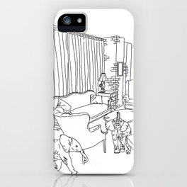 Surreal Elephants in Home iPhone Case