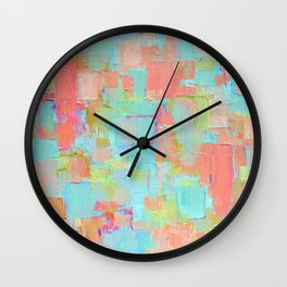 Coral Coterie Wall Clock