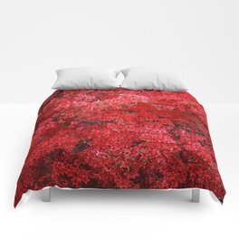 Charming Red Flower Comforters