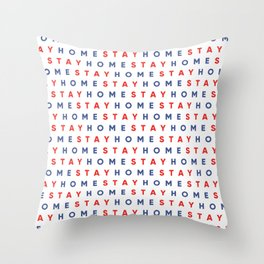 Stay Home Pattern Throw Pillow
