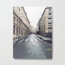 Rainy Day In Le Marais Metal Print