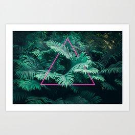 Neon Botanical II Art Print