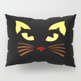 Black Cat at Night Pillow Sham