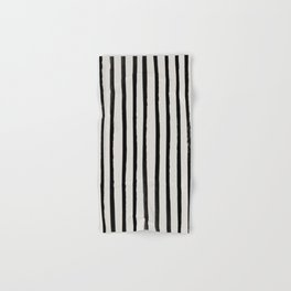 Vertical Black and White Watercolor Stripes Hand & Bath Towel