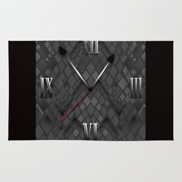 Watch. Black and white pattern . Rug