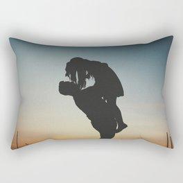 WOMAN - MAN - MOON - SUNSET - PHOTOGRAPHY Rectangular Pillow