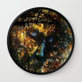 jesus christ abstract painting Wall Clock
