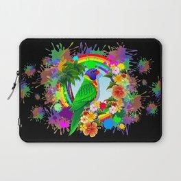 Rainbow Lorikeet Parrot Art Laptop Sleeve