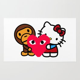 Baby CDG Kitty Rug