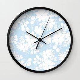 Sky florals Wall Clock