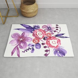 """Floral abstract bouquet """"Emma"""" Rug"""