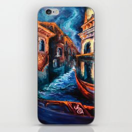 """Venice at Night"" Painting iPhone Skin"