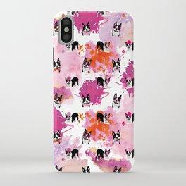 Boston Terriers Pattern Splatters iPhone Case