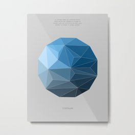 Continuum grey Metal Print