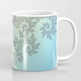 Curly frost patterns on a pastel background Coffee Mug