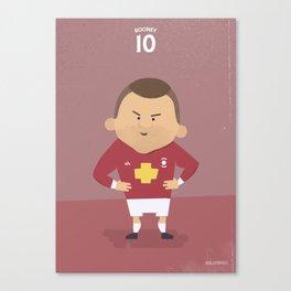 The Tens   Wayne Rooney Canvas Print