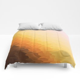 Peach Beige Goldenrod Texture Ombre Comforters