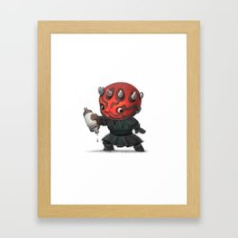 Lil Darth Maul Framed Art Print