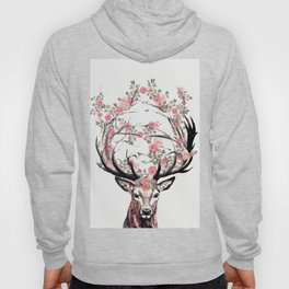 Deer and Flowers Hoody