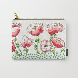 polka dot poppies Carry-All Pouch