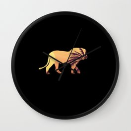 Lion Lion Africa Wall Clock