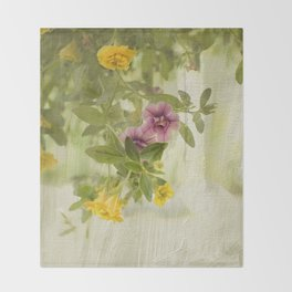 Lovely Calibrachoa Throw Blanket