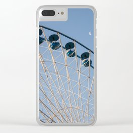 Big wheel and moon Clear iPhone Case