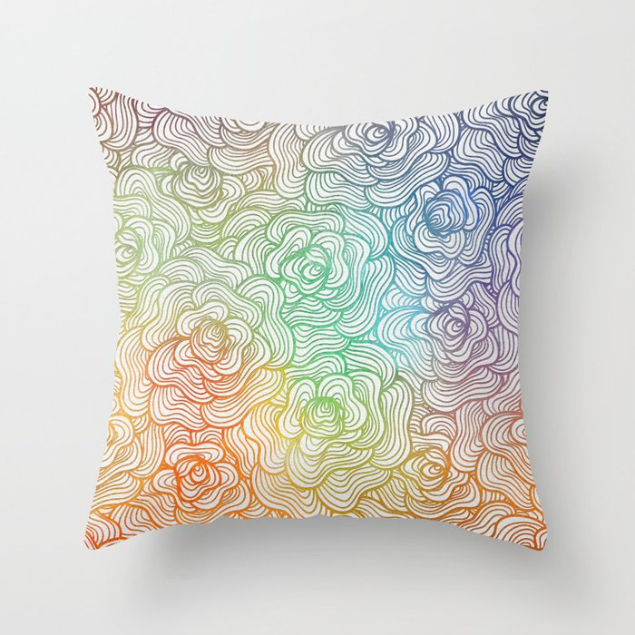 Abstract Roses 2 Throw Pillow