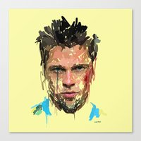 tyler spangler Canvas Prints featuring Tyler by Marcello Castellani