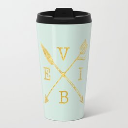 VIBE - Feather Arrow Cross - GOLD Travel Mug