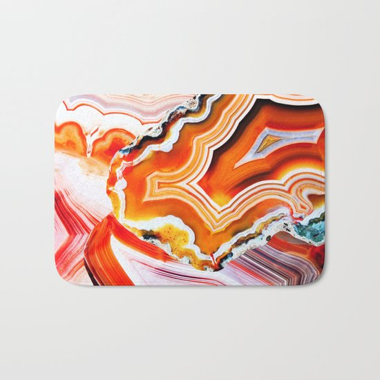 The Vivid Imagination of Nature, Layers of Agate Bath Mat