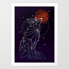 Fox in the Stars Art Print