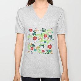 Floral Frenzy Unisex V-Neck