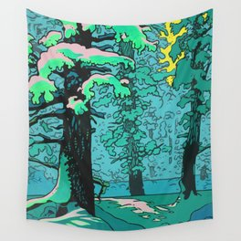 Snow Forest Wall Tapestry