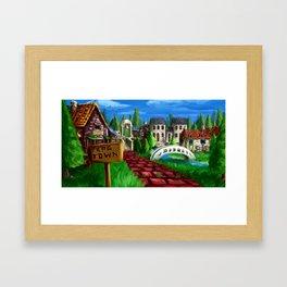 RPG Town Framed Art Print