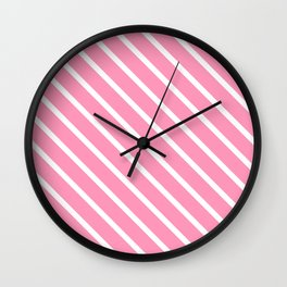 Musk Stick Diagonal Stripes Wall Clock