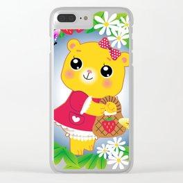 cutesy bear Clear iPhone Case