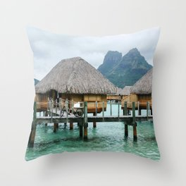 Bora Bora Mountain Mist Throw Pillow