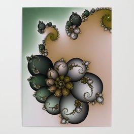 Trinket Flower Fractal Poster