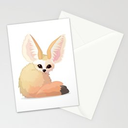 cute fennec foxes. Vector graphic character Stationery Cards