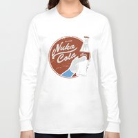 fallout Long Sleeve T-shirts featuring Nuka Cola Fallout drink by Krakenspirit