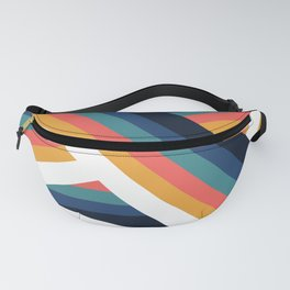 Zig Zag Retro Color Stripe Lines Fanny Pack