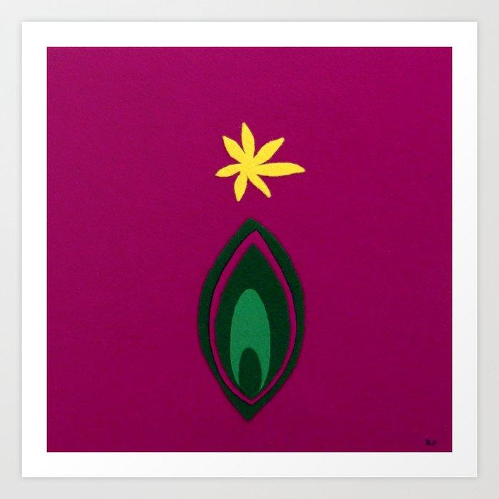 de Flower [fuchsia] Art Print