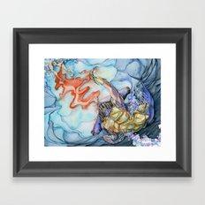 Gladiator Hammerhead Shark Framed Art Print