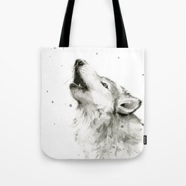 Wolf Howling Tote Bag