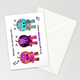 We've got the hippo hippo shake! Stationery Cards