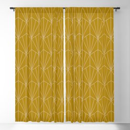 Art Deco Vector in Gold Blackout Curtain