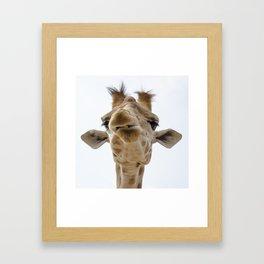 Love me - love my giraffe Framed Art Print